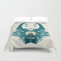 spirited away Duvet Covers featuring Spirited by Duke Dastardly