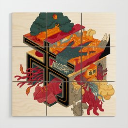 CITY OF MONSTERS Wood Wall Art