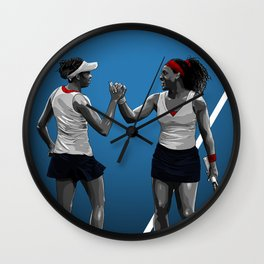 Venus & Serena Williams Wall Clock