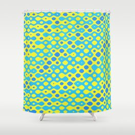 Brain Coral Blue Banded Small Polyps - Coral Reef Series 027 Shower Curtain