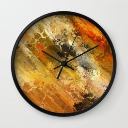 Fire's colors Wall Clock