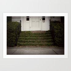 the stoop::charleston Art Print