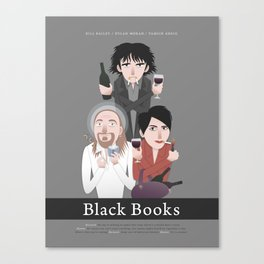 Black Books Canvas Print