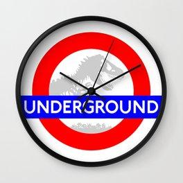 LONDON UNDERGROUND : JURASSIC PARK SERVICE Wall Clock