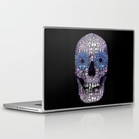 crossfit Laptop & iPad Skins featuring Skull Art - Day Of The Dead 2 Stone Rock'd by Sharon Cummings