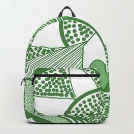 Welsh house of lines green Backpack