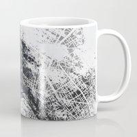 paris map Mugs featuring Paris Map by Nicolas Jolly