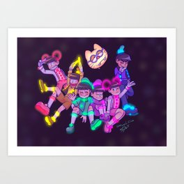 Osomatsu-san :: Electrical Parade (ver2) Art Print