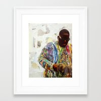 biggie Framed Art Prints featuring Biggie by Katy Hirschfeld
