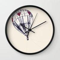 balloon Wall Clocks featuring Balloon by Adrienne