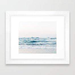 Kiss Me Like A Wave Framed Art Print