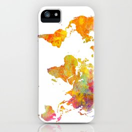 world map 23 iPhone Case