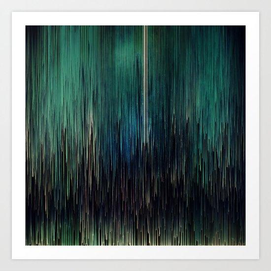 Planet Pixel New York Blues Art Print