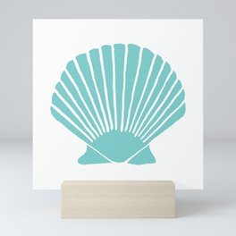 Aqua Seashell Mini Art Print