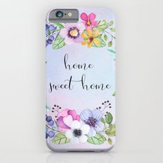 Home sweet home -blue iPhone 6s Slim Case