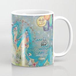 Martha's Vineyard Insiders Map Coffee Mug