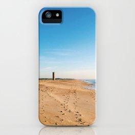 Beach, ocean with waves - minimalist landscape photography | Rehoboth Beach, DE iPhone Case