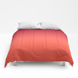 Living Coral Fiesta Jester Red Gradient Ombre Pattern Comforters