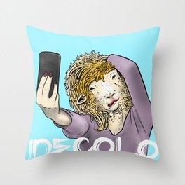 Sheep Selfie Throw Pillow