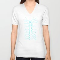 antlers V-neck T-shirts featuring antlers by Jia Guo
