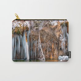 A spring that knows no summer  - Hanging Lake print  by Lena Owens Carry-All Pouch