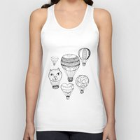 hot air balloons Tank Tops featuring dreaming of hot air balloons by Oh, Hopscotch!