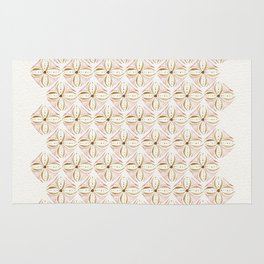 Rose Gold Watercolor Tile Rug