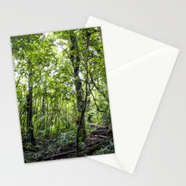 Hiking through the Rainforest on the side of the Mombacho Volcano in Nicaragua Stationery Cards
