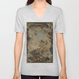 Allegory of the Planets and the Continents by Giovanni Battista Tiepolo Unisex V-Neck