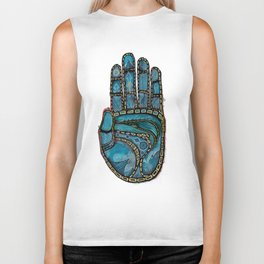 The Hand Of (Free)Time Biker Tank