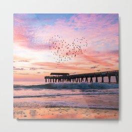Bird Heart at Sunrise Metal Print