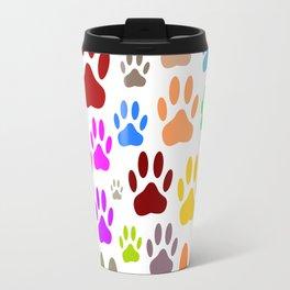 Dog Paw Prints All Over Travel Mug