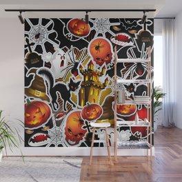 Halloween Spooky Cartoon Saga Wall Mural
