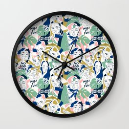 Positive feminine mind Wall Clock