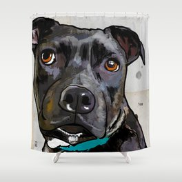 Dog: Staffordshire Bull Terrier Shower Curtain