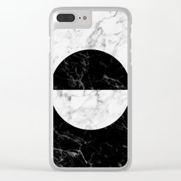 Marble II Clear iPhone Case