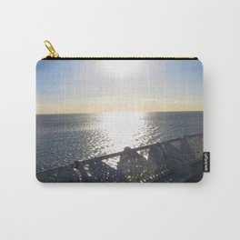 Sunny Day On Central Pier In Blackpool  Carry-All Pouch