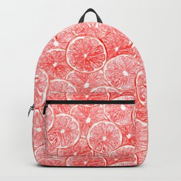 Watercolor grapefruit slices pattern Backpack