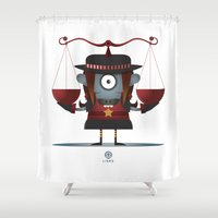 libra Shower Curtains featuring LIBRA by Angelo Cerantola