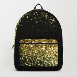 Sparkling Gold Glitter Glam #1 #shiny #decor #art #society6 Backpack