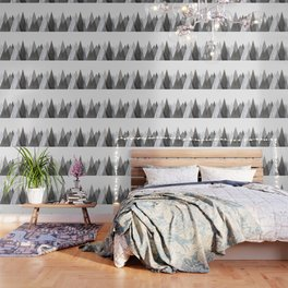 Marble Gray Copper Black and White Mountains Wallpaper