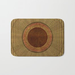 """Golden Circle Japanese Vintage"" Bath Mat"