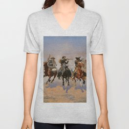 A Dash for the Timber - Frederic Remington Unisex V-Neck