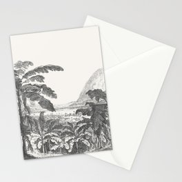 Palms and Mountain Stationery Cards