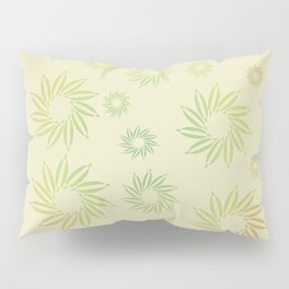 Multicolored flowers with neutral background in pastel colors. Pillow Sham
