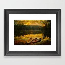 Canoe Trip Framed Art Print