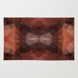 Mozaic design in dark brown colors Rug