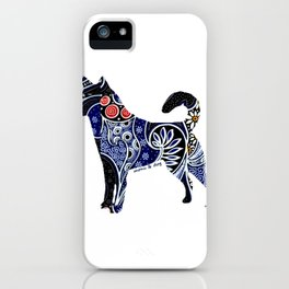 Indonesian Batik Dog iPhone Case