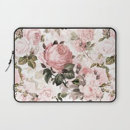 Vintage & Shabby Chic - Sepia Pink Roses Laptop Sleeve