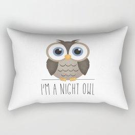 I'm A Night Owl Rectangular Pillow